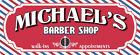 Custom Retro Barber Shop Personalized Sign with Barber Pole Stripes C1267