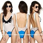 Sexy Womens Mesh Vest One Piece Bikini Push-up Swimwear Monokini Bathing Suit