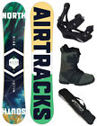 SNOWBOARD SET AIRTRACKS NORTH SOUTH ROCKER+BINDUNG+BOOTS+BAG+PAD/152 156 159 163
