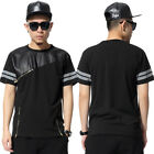 High Street Cotton Leather Religion Gothic 3 Golden Zipper T Shirt Tee Jersey