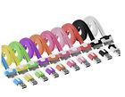 Hot Apple iPhone 4 4S Flat Noodle USB Sync Data Charging Charger Cable Cord