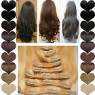 Girl Full Head 8 piece Clip in on Hair Extensions Real thick 17/23/24/26 inch 2Y