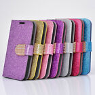 Fashion CRYSTAL DIAMOND BLING GLITTER WALLET FLIP CASE COVER for Galaxy & iPhone