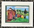 Personalized Outhouse Wash Art Print Laundry Bath Folk Country Clothes Septic