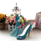 SET(1 Mannequin+1 Highheel Shoe Ring Stand)Jewelry Earring Necklace Display JD38
