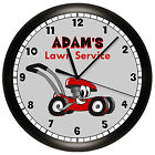 LAWN MOWER WALL CLOCK PERSONALIZED SERVICE MECHANIC SMALL ENGINE REPAIR GIFT