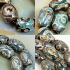 Tibetan Mystical Old Agate Oval Gemstone Beads 8x12mm 10x14mm 12x16mm