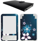 Amazon Ebook Kindle 3 Kindle Keyboard Genuine Leather Case Cover + Decal Skin