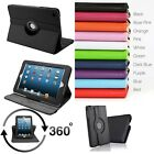 New PU Leather 360° Rotating Smart Stand Case Cover For iPad Mini &iPad Mini 2