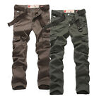 New Arrival! Mens Slim Fit Straight Leg Army Cargo Pants Long Trousers 29 30 31+