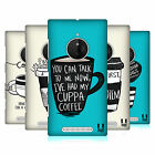 HEAD CASE DESIGNS COFFEE FIX HARD BACK CASE FOR NOKIA LUMIA 830