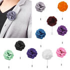 Men Lapel Pin Flower Handmade Boutonniere Pin Stick Tie Brooch Accessories New