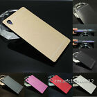 Luxury Metal Aluminum Brushed Hard Case Cover Skin for Sony Xperia Phone