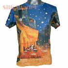 VINCENT VAN GOGH CAFE TERRACE NIGHT T SHIRT MENS FINE ART PRINT UNISEX TEE *