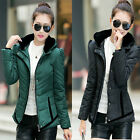 NEW BRAND Womens Down Cotton coats Winter Jacket Thick Solid Parkas Hooded USJB