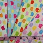 Colourful Elephants Nursery Fabric 100% Cotton - Choice of Colours and Sizes
