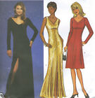 Misses Knit Evening Dress Sewing Pattern A Line Slightly Flared 2 Lengths 3337