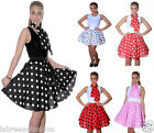 New Ladies Women Crazy Chick Polka Dot Skirts fancy dress 18 inch