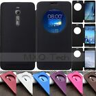Circle Window Smart View Flip Leather Battery Case Cover For ASUS ZenFone 2 5 6