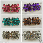 9*4*3cm New Vintage Rhinetone Flower Shape Alloy Hair Clip Barrette Jewelry 1pc