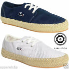 Lacoste Agour SRW Womens Canvas Blue Grey Lace Up Espadrilles Shoes