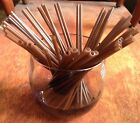 """Cocktail Drinking Stir Straws Plastic Coffee NEW Asst of colors 5"""" x 1/8"""" NEW"""