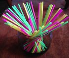 Cocktail Drinking Stir Straws Plastic Coffee NEW Asst of colors 5 x 1 / 8 NEW