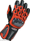 RED Leather Motorbike Motorcycle Gloves for Ducati Yamaha Aprilia Sports BIKERS