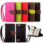 Leaf Magnetic Wallet Card Leather Flip Case Cover For Huawei Ascend G6 G7 Y550
