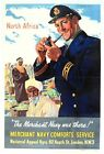 World War Two Merchant Navy North Africa Poster A3 Print