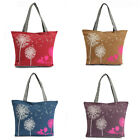Canvas Women Handbag Shoulder Bag Tote Purse Messenger Shopping Beach Dandelion