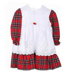 Girls Tartan Dress and White Smock, Royal Stewart