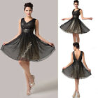 Sexy Formal Bridesmaid HOMECOMING Masquerade Prom Ball Gown Cocktail SHORT Dress