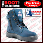 Steel Blue 'Southern Cross' Blue 322360.  Steel Toe Cap Safety Work Boots. Lace-