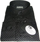 Shirt Polka Dot Black White Pin Dot Luxury Cotton Mr Free size S-3XL - NEW!