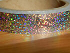 Holographic Hoop Tape - Glitter Multi Dot -  Self Adhesive - 20mm x 10m - Lures