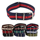 20mm Men's Sport Nylon Wrist Watch Band Strap Stainless Steel Buckle Mutil Color