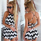 2Pieces Set Women Celeb Playsuit Evening Party Summer Dress Jumpsuit Tops+Shorts