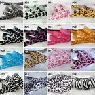 "3/8""--1.5"" Mixed Leopard Grosgrain Ribbon Craft 1/10/100 Yards 16 Designs U Pick"