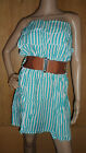 NEW WOMEN'S ! STRAPLESS/BANDEAU RUFFLE SUMMER BEACH DRESS TOP FOR UK SIZES 8to14