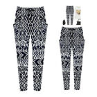 Urban Women Casual Harem Textures Trousers Geometric Splice Long Baggy Pants