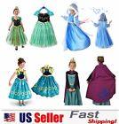 Princess Elsa Anna Frozen Dressup Costume Dress Ball Gown To