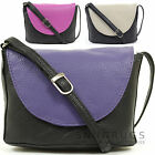 Ladies / Womens Leather Handy Cross Body Bag / Shoulder Bag