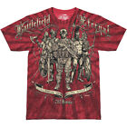 7.62 DESIGN BATTLEFIELD ETERNAL MILITARY COMBAT TOP MENS CASUAL T-SHIRT SCARLET