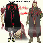 Tales of the Abyss Asch the Bloody Cosplay Costume Full Set FREE P&P