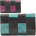 Womens / Ladies Soft Leather Matinee Purse with Snake Skin Effect Design