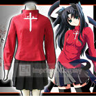 Fate/stay night Rin Tohsaka Cosplay Costume Full Set FREE P&P