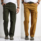 HOT Mens Casual Military Army Cargo Straight Trousers Combat Work Long Pants NEW