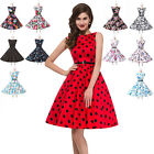 GRACE KARIN Cotton Rockabilly Pin Up Vintage 50s Style Party Prom Swing Dress