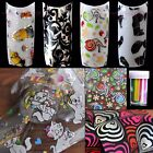 60 pieces New Nail Art Foil Glue Transfer Tips Decor Flower Decal Sticker